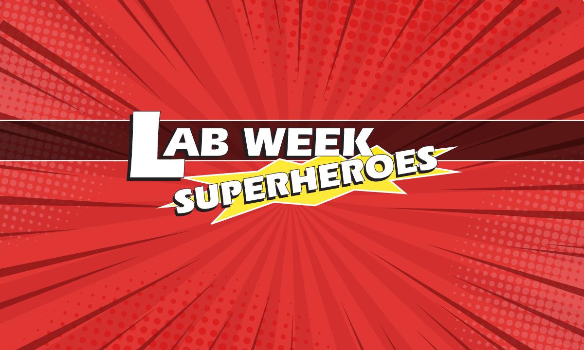 Lab Week Superheroes logo