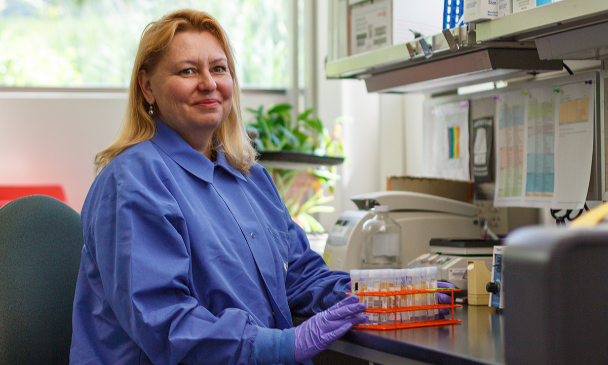 Patricia Slev, PhD, ARUP Immunology Division section chief and University of Utah associate professor of pathology