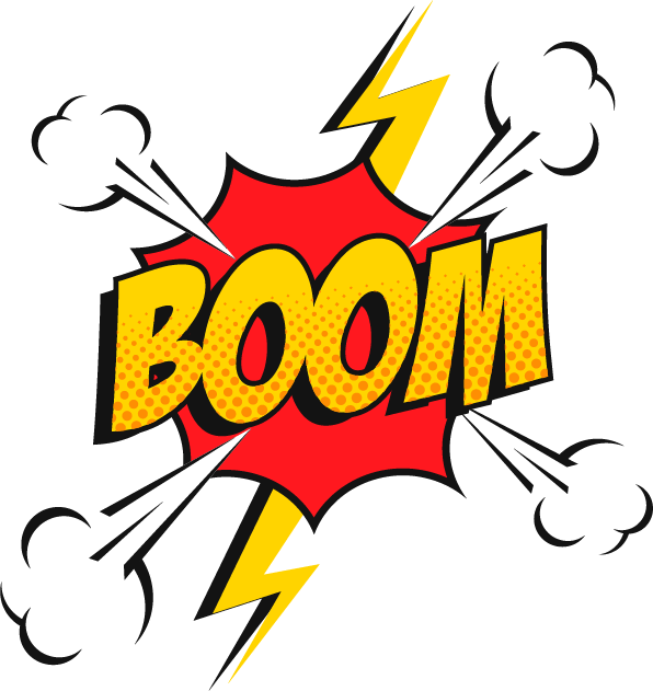 Comicbook boom cartoon