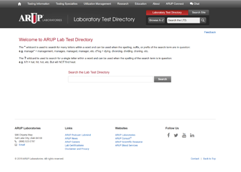 ARUP Laboratory Test Directory