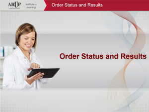 ARUP Order Status and Results