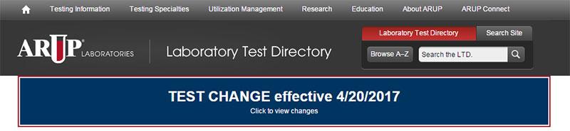 ARUP's Laboratory Test Directory | ARUP Laboratories